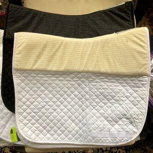 Success Equestrian non-slip dressage pad, white
